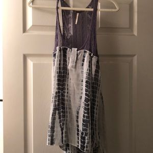 Free People Tye Dye/Knit Top